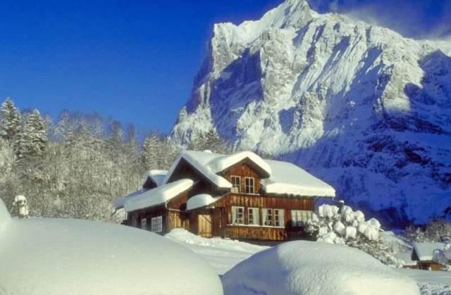 casa vacanza in montagna inverno