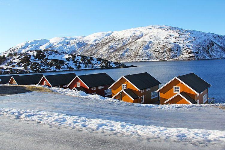fiordi norvegesi e aurora boreale