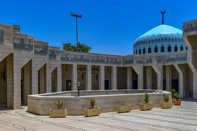 giordania la moschea di ammna